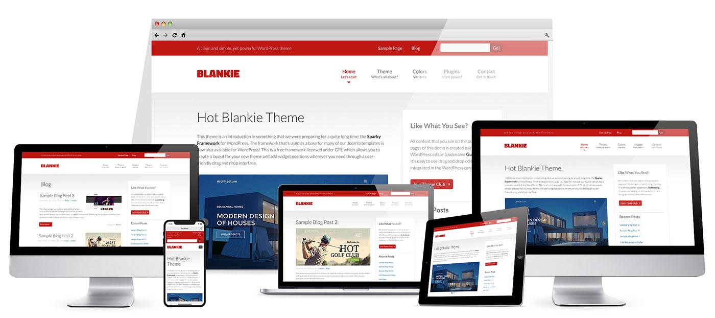 Responsive clean WordPress theme