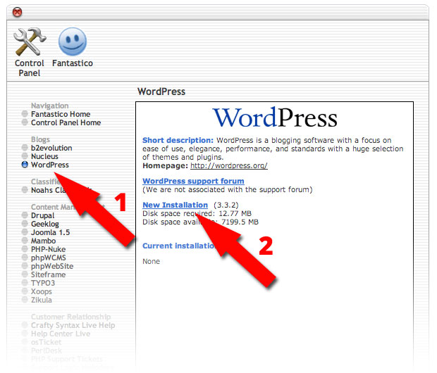 install wordpress via cpanel 2