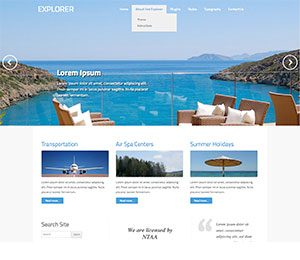 Explorer Travel WordPress theme