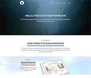 WordPress video background theme
