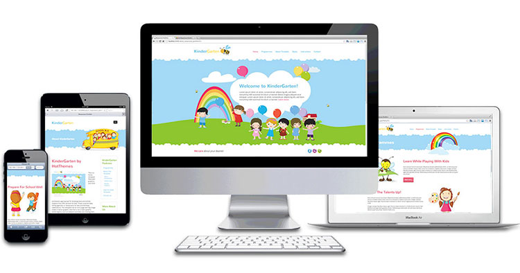 responsive kindergarten wordpress theme