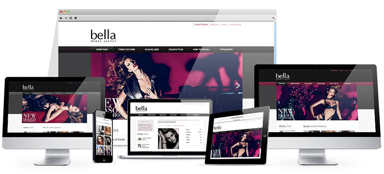 responsive model agency wordpress theme