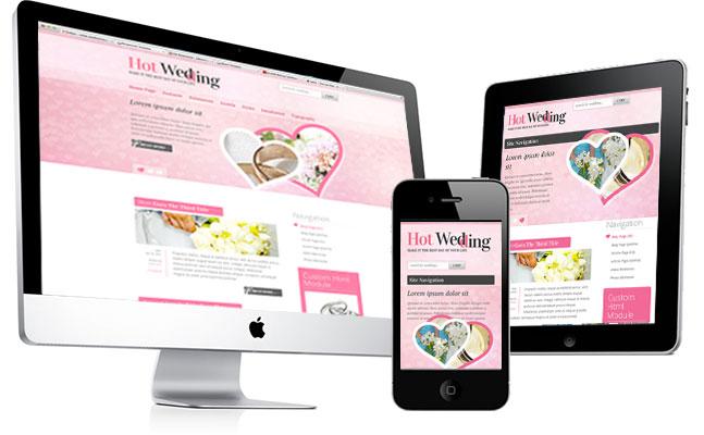 Responsive Wedding WordPress theme