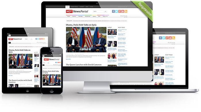 responsive news portal theme