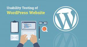 Usability testing of WordPress website