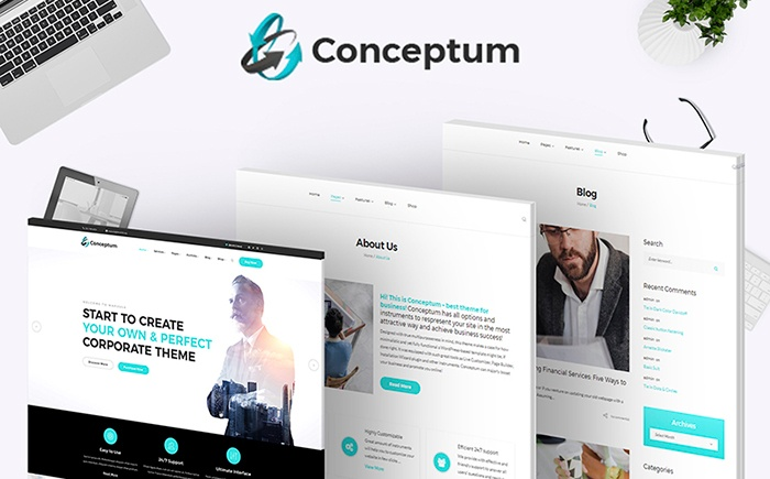 Conceptum - Corporate Responsive WordPress Theme
