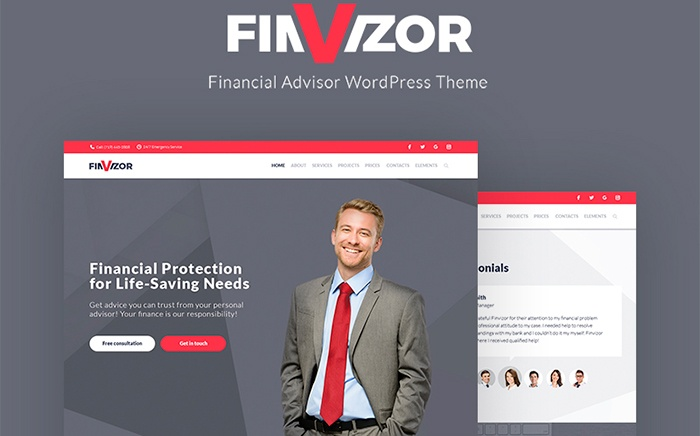 FinVisor Business Consultant WordPress Theme