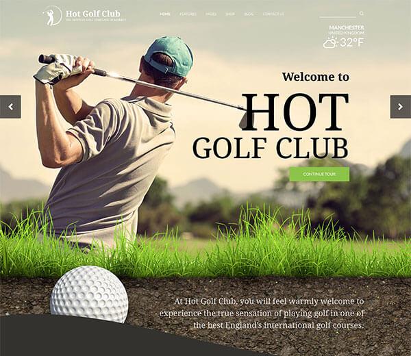WordPress Golf Theme