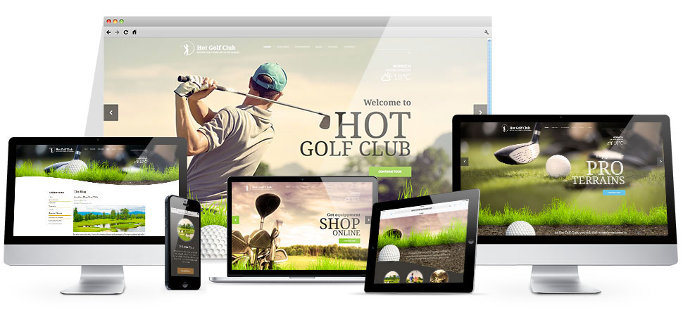 Responsive WordPress Golf Theme