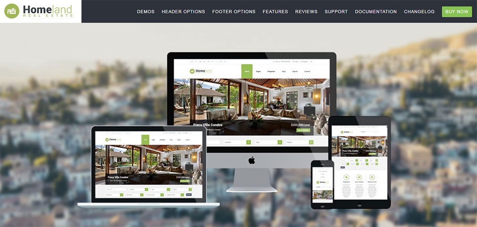 Homeland real estate WP theme
