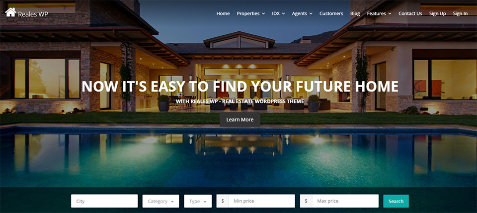 Reales real estate WP theme