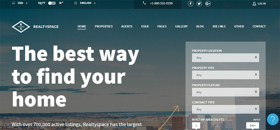 Realtyspace real estate WP theme
