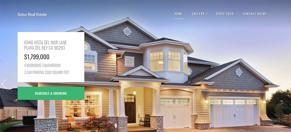 Solus real estate WP theme