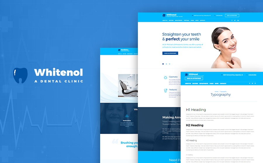 Whitenol Dentist WordPress Themes