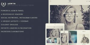 Arwyn - Instagram style WordPress Themes