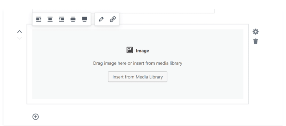 Gutenberg drag and drop images