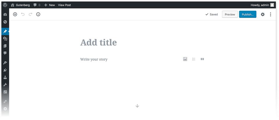 Gutenberg editor blank page