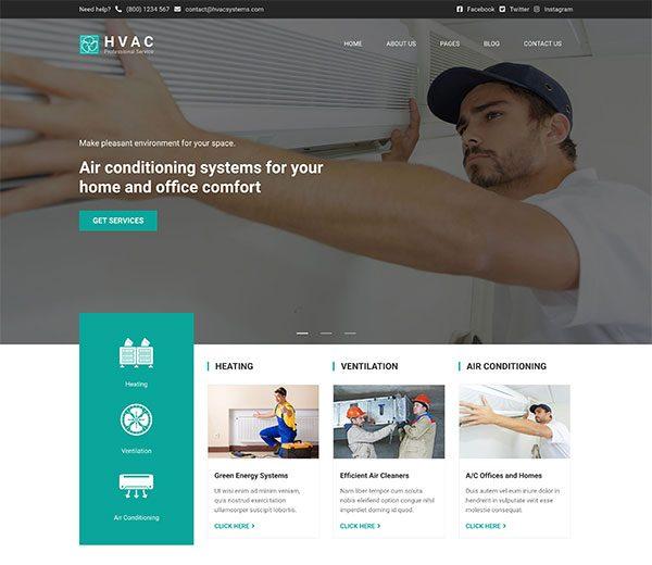 HVAC WordPress theme