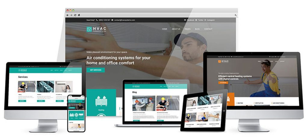Responsive HVAC WordPress theme