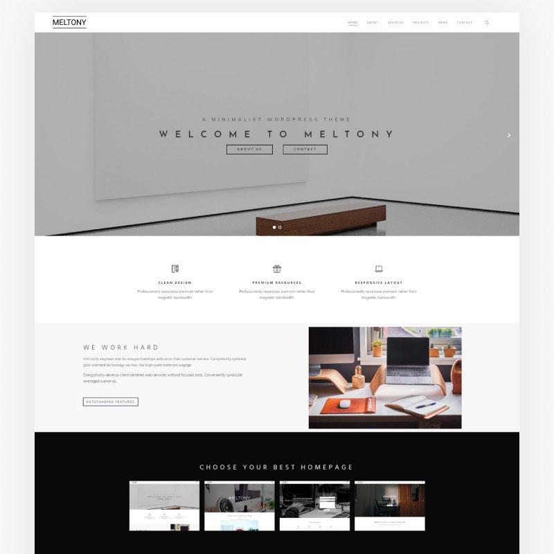 Meltony - Minimalist for Any Businesses WordPress Theme