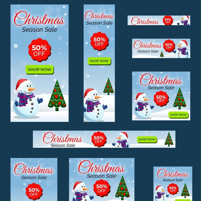 Christmas Sale Banners - 10 PSD Template