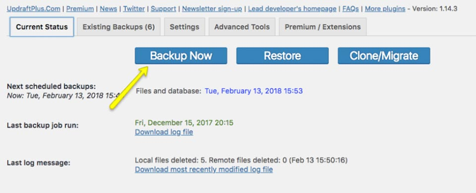 multisite_site_backup